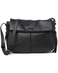 Aimee Kestenberg Clayton Leather Crossbody Bag In Black With Black At Nordstrom Rack