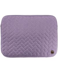 MYTAGALONGS Bella Quilted Laptop Sleeve - Purple