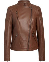 Sam Edelman Lambskin Leather Moto Jacket - Multicolor