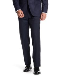JB Britches - Trim Fit Wool Solid Trousers - Lyst