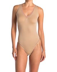 Yummie By Heather Thomson Stevie Seamless Shaping Thong Bodysuit - Multicolor
