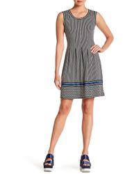 Lyst - Max Studio Linen Shift Dress in Blue 202dfb120
