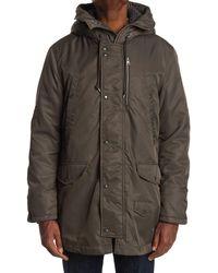 AllSaints Garth Hooded Fleece Parka - Brown