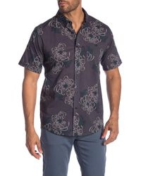 Ezekiel - Choked Up Floral Short Sleeve Regular Fit Shirt - Lyst
