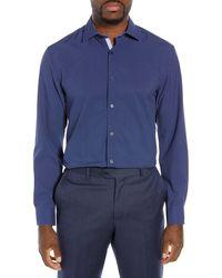 W.r.k. Slim Fit Performance Stretch Dot Dress Shirt - Blue
