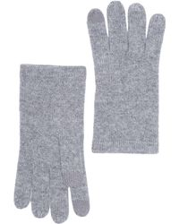 Phenix Cashmere Knit Gloves In 020gry At Nordstrom Rack - Gray