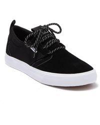 Supra Flow Suede Sneaker - Black