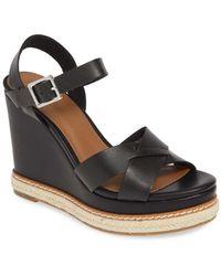 BP. Elipse Wedge Sandal - Black
