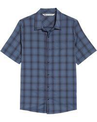Travis Mathew - Dave Plaid Slim Fit Sport Shirt - Lyst
