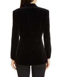 Theory Dotted Cinched Cotton Velveteen Blazer - Black