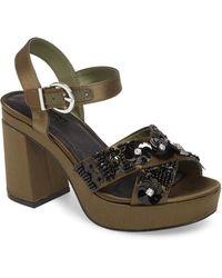 TOPSHOP - Lotus Embellished Platform Sandal - Lyst