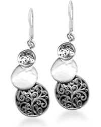 Lois Hill - Sterling Silver Stacked Filigree Handcrafted Drop Earrings - Lyst