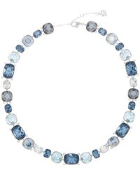 Swarovski - Divinity Multi Color Faceted Crystal Statement Necklace - Lyst