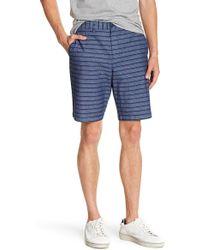 Original Penguin - Straight True Indigo Horizontal Striped Shorts - Lyst