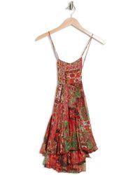 Raga Araminta Floral Print Crossback Mini Dress - Red