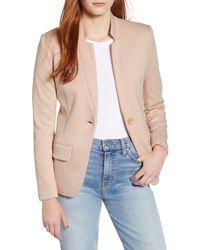 Gibson Notch Collar Cotton Blend Blazer - Pink