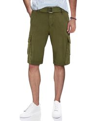 Xray Jeans - Belted Snap Button Cargo Shorts - Lyst