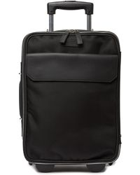 """Versace - 17"""" Leather Trimmed Rolling Carry-on - Lyst"""
