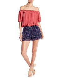 Joie - Ciri Floral Print Silk Shorts - Lyst