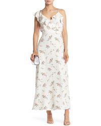 Sugarlips Sleeveless Floral Ruffle Maxi Dress - White