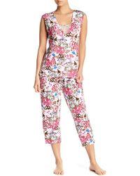 Tahari - Cap Sleeve & Capri Pajama 2-piece Set - Lyst