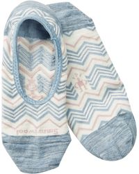 Smartwool - Chevron Print No-show Wool Blend Socks - Lyst