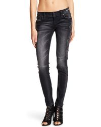 Miss Me - Metallic Embroidered Skinny Jeans - Lyst