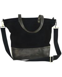 Kiko Leather - Boyfriend Leather & Canvas Tote Bag - Lyst