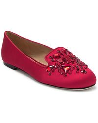 Tory Burch Delphine Embellished Loafer - Red