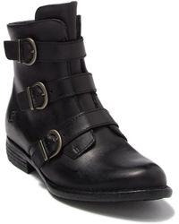 Born Nivine Leather Buckle Boot - Black