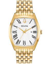 Bulova Women's Tonneau Watch - Yellow