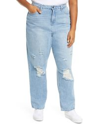 BP. Distressed Mom Jeans - Blue