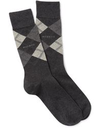BOSS - Boss Men's Argyle Cotton Socks - Lyst