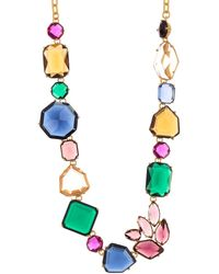 Kate Spade Rock It Crystal Statement Necklace - Multicolour