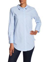 Kensie - Striped Ring Back Shirt - Lyst