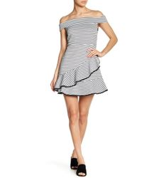 English Factory - Ruffle Off-the-shoulder Dress - Lyst