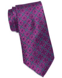 Ted Baker Flower Square Silk Tie - Pink