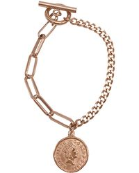 Adornia - Coin Mixed Chain Bracelet In Pink At Nordstrom Rack - Lyst