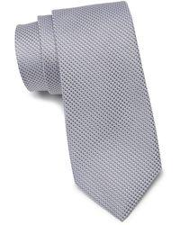 Calibrate Gerrit Textured Silk Tie - Metallic