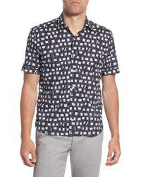 Culturata - Trim Fit Print Sport Shirt - Lyst