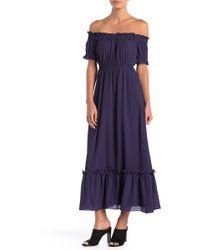 Cece by Cynthia Steffe - Vivian Off-the-shoulder Maxi Dress - Lyst