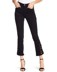 Seven7 - Mid Rise Ankle Flared Grommet Pants - Lyst