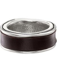 Uno De 50 - Surrounded Leather Wrap Ring - Lyst