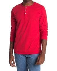 Saturdays NYC Mitch Knit Henley T-shirt - Red
