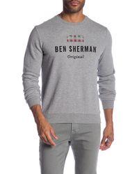 Ben Sherman - Long Sleeve Union Jack Logo Sweater - Lyst