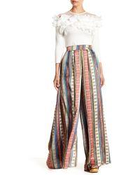 Gracia - Pleated Printed Pants - Lyst