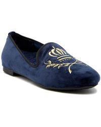 Vionic - Romi Embroidered Suede Loafer - Lyst