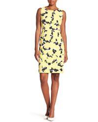 Kasper - Floral Patterned Dress - Lyst