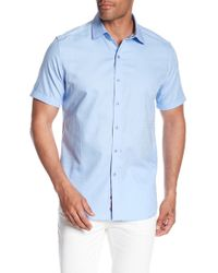 Robert Graham - Windsor Short Sleeve Patterned Regular Fit Shirt - Lyst