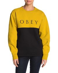 Obey Sonora Crew Neck Pullover - Yellow